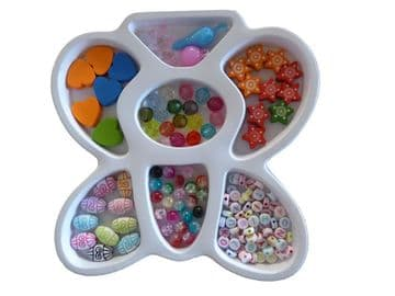 CRAFT + HOBBY BEAD SETS (A) for JEWELLERY making NECKLACES + BRACELETS DIY KITS